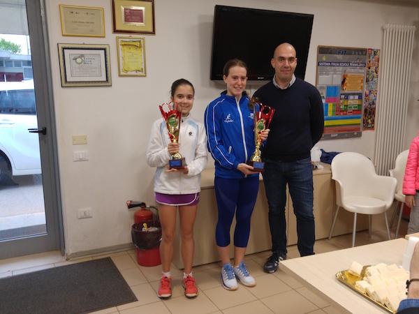 Pastorello (finalista) e Benvegnù(vincitrice) u14 f 2016 Dolo