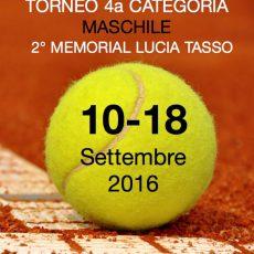 Torneo di 4a maschile – 2o memorial Lucia Tasso